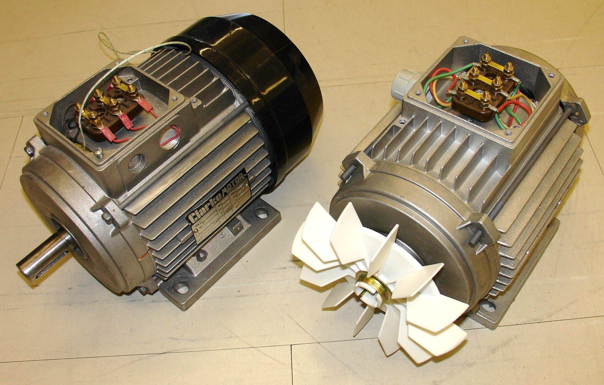 Silnik elektryczny Źródło: Zureks, Silnik elektryczny, licencja: CC BY-SA 3.0.