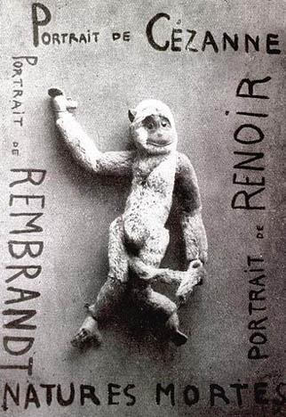 """Francis Picabia, Portret Cézanne'a, 1920, asamblaż (karton, zabawka, tusz), ilustracja wczasopiśmie """"Cannibale"""" nr 1 Francis Picabia, Portret Cézanne'a, 1920, asamblaż (karton, zabawka, tusz), ilustracja wczasopiśmie """"Cannibale"""" nr 1 Źródło: Francis Picabia, licencja: CC 0, [online], dostępny winternecie: https://commons.wikimedia.org/wiki/File:Natures_Mortes._Portrait_of_Cézanne,_Portrait_of_Renoir,_Portrait_of_Rembrandt.jpg?uselang=pl [dostęp 25.10.2015 r.]."""