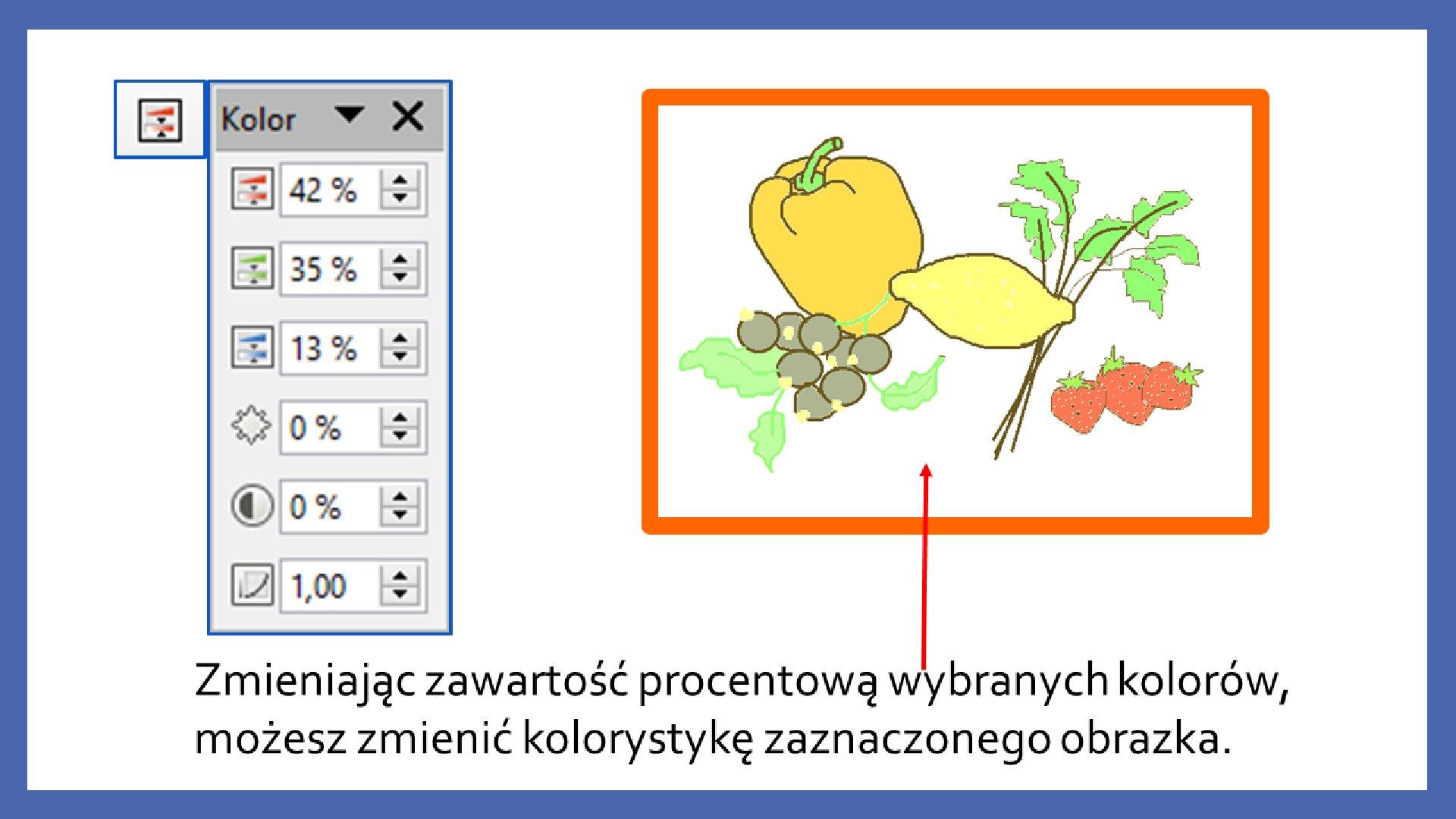 Slajd 6 galerii zrzutów slajdów: Modyfikacja obiektów wprogramie LibreOffice Impress