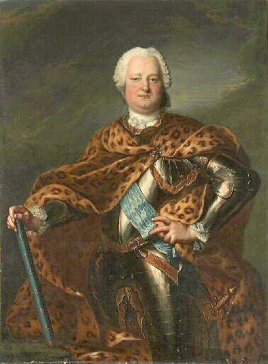 Stanisław Leszczyński Stanisław Leszczyński (1677-1766) wprzededniupowtórnego wyboru na króla Polski. Źródło: Jean-Marc Nattier, Stanisław Leszczyński, ok. 1730, olej na płótnie, Musée des Beaux-Arts de Dijon, domena publiczna.