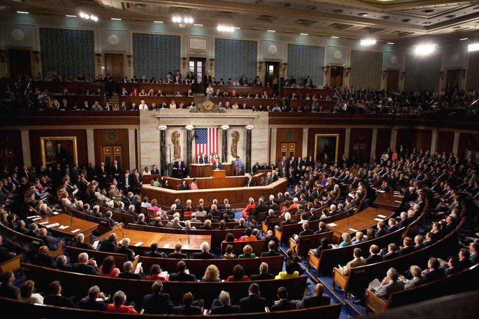 Sala posiedzeń Kongresu Sala posiedzeń Kongresu Źródło: Lawrence Jackson, domena publiczna.