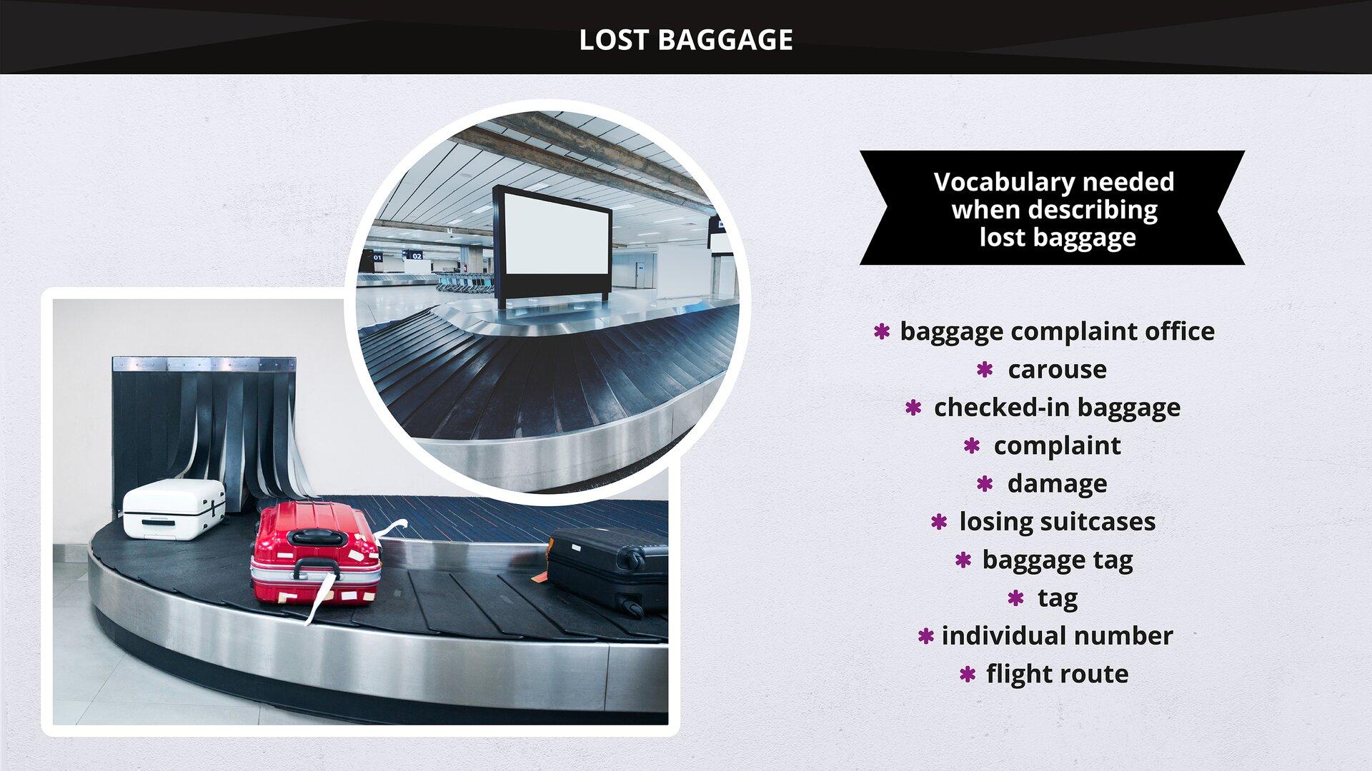 The image presents aconveyor carrying baggage. Grafika przedstawia taśmociąg iprzejeżdżające na nim bagaże.