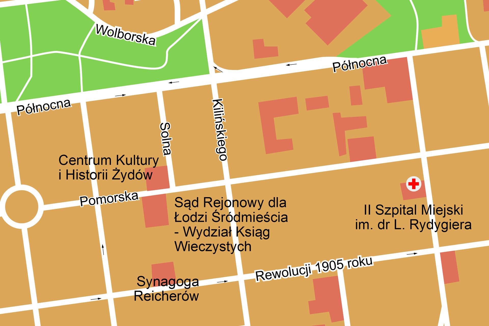 Fragment planu miasta.