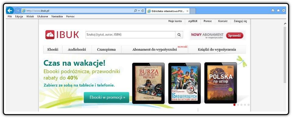 Zrzut okna strony http://www.ibuk.pl