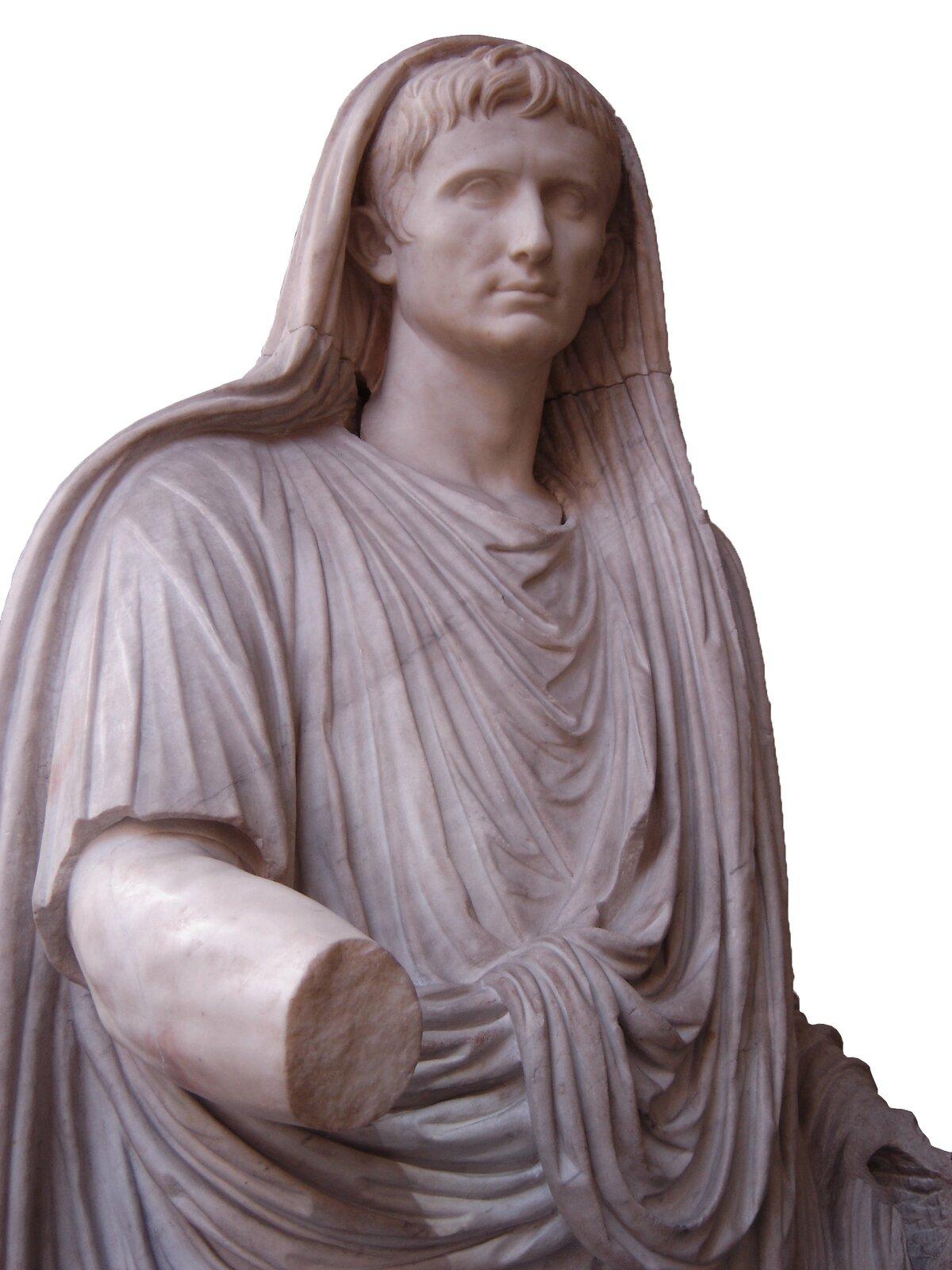 Oktawian August jako najwyższy kapłan Oktawian August jako najwyższy kapłan Źródło: domena publiczna.