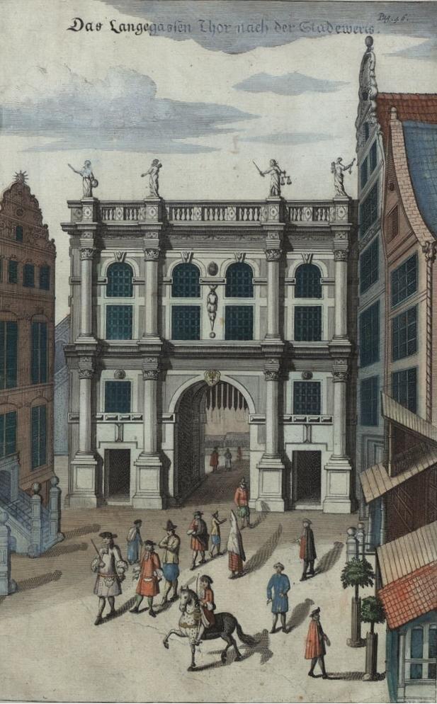 Złota Brama Źródło: Reinhold Curick, Złota Brama, 1687, domena publiczna.