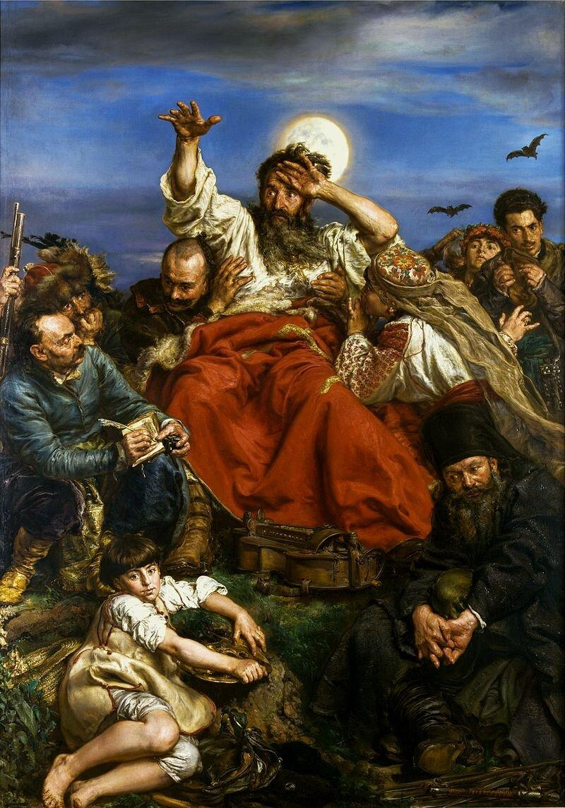 Wernyhora Źródło: Jan Matejko, Wernyhora, 1883–1884, olej na płótnie, Muzeum Narodowe wKrakowie, licencja: CC 0.