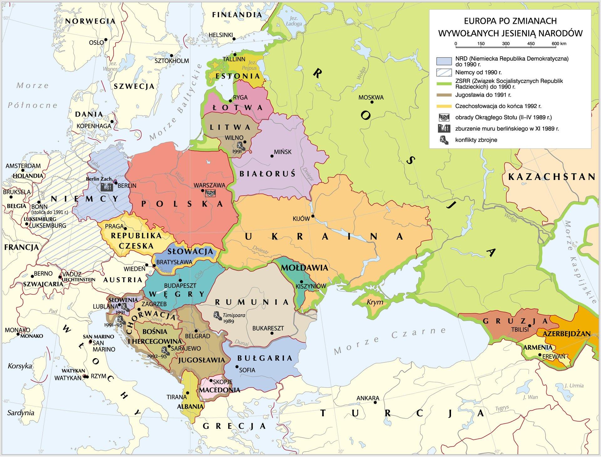 Europa po 1989 r. Europa po 1989 r. Źródło: Krystian Chariza izespół, licencja: CC BY 4.0.
