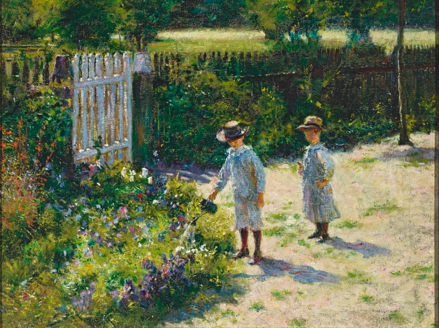 Dzieci wogrodzie Źródło: Władysław Podkowiński, Dzieci wogrodzie, 1892, olej na płótnie, Muzeum Narodowe wWarszawie.