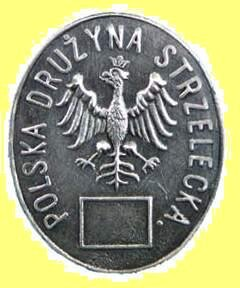 Replika odznaki Polskich Drużyn Strzeleckich z1913 Źródło: American1990, Replika odznaki Polskich Drużyn Strzeleckich z1913, 2008, licencja: CC BY 3.0.
