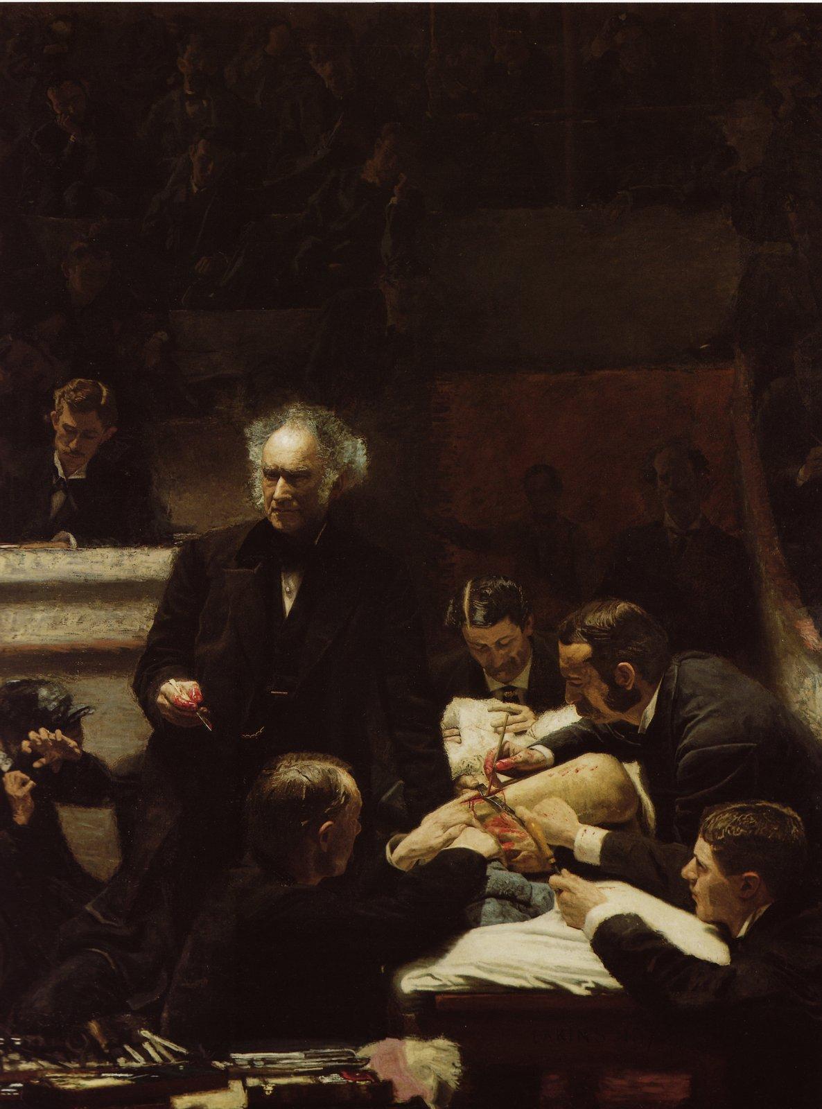 Klinika doktora Grossa Źródło: Thomas Eakins, Klinika doktora Grossa, 1875, olej na płótnie, Philadelphia Museum of Art, domena publiczna.