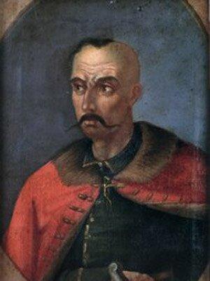 Semen Palej (ur. ok. 1640, zm. 1710) – kozacki pułkownik na osiemnastowiecznym portrecie nieznanego autorstwa. Semen Palej (ur. ok. 1640, zm. 1710) – kozacki pułkownik na osiemnastowiecznym portrecie nieznanego autorstwa. Źródło: domena publiczna.