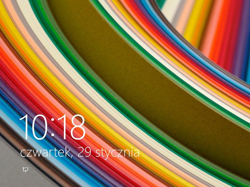 Zrzut ekranu powitalnego systemu Windows 8.1 i10