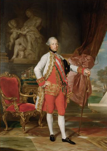 Portret Józef II Źródło: Anton von Maron, Portret Józef II, 1775, Muzeum Historii Sztuki wWiedniu, domena publiczna.