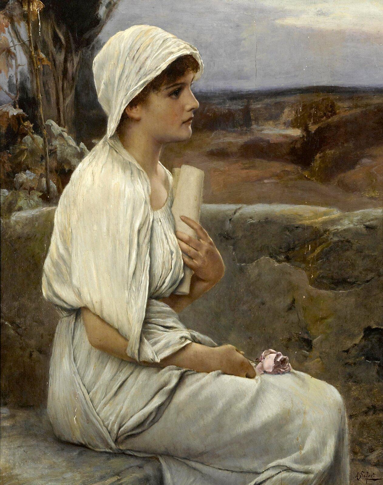 Hypatia zAleksandrii, obraz Alfreda Seiferta