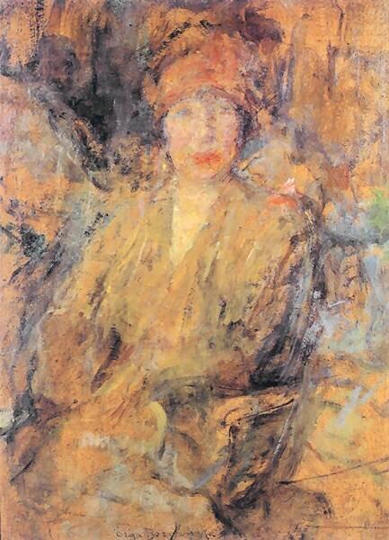 Portret kobiety Źródło: Olga Boznańska, Portret kobiety, 1925, olej na płótnie, domena publiczna.