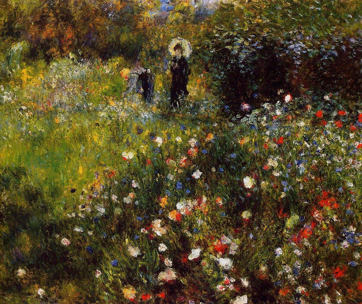 Letni pejzaż Źródło: Auguste Renoir, Letni pejzaż, domena publiczna.