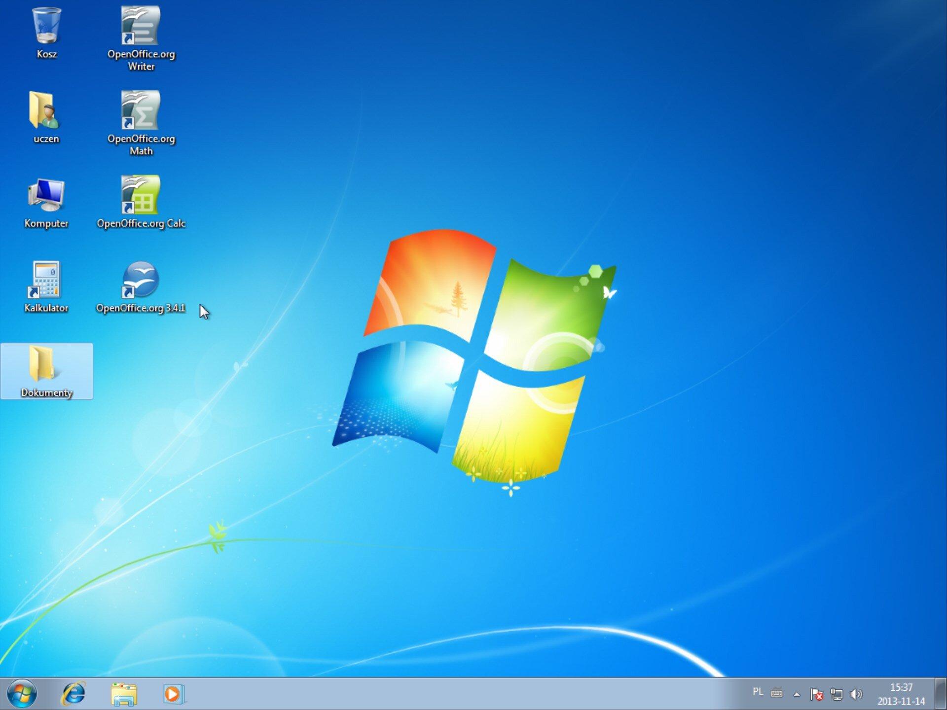 Zrzut pulpitu systemu Windows 7