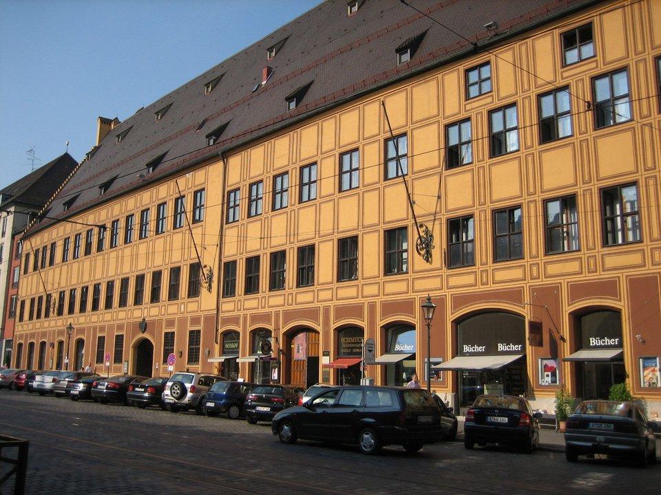 Pałac miejski Fuggerów wAugsburgu Pałac miejski Fuggerów wAugsburgu Źródło: Alois Wüst, Wikimedia Commons, licencja: CC BY-SA 3.0.