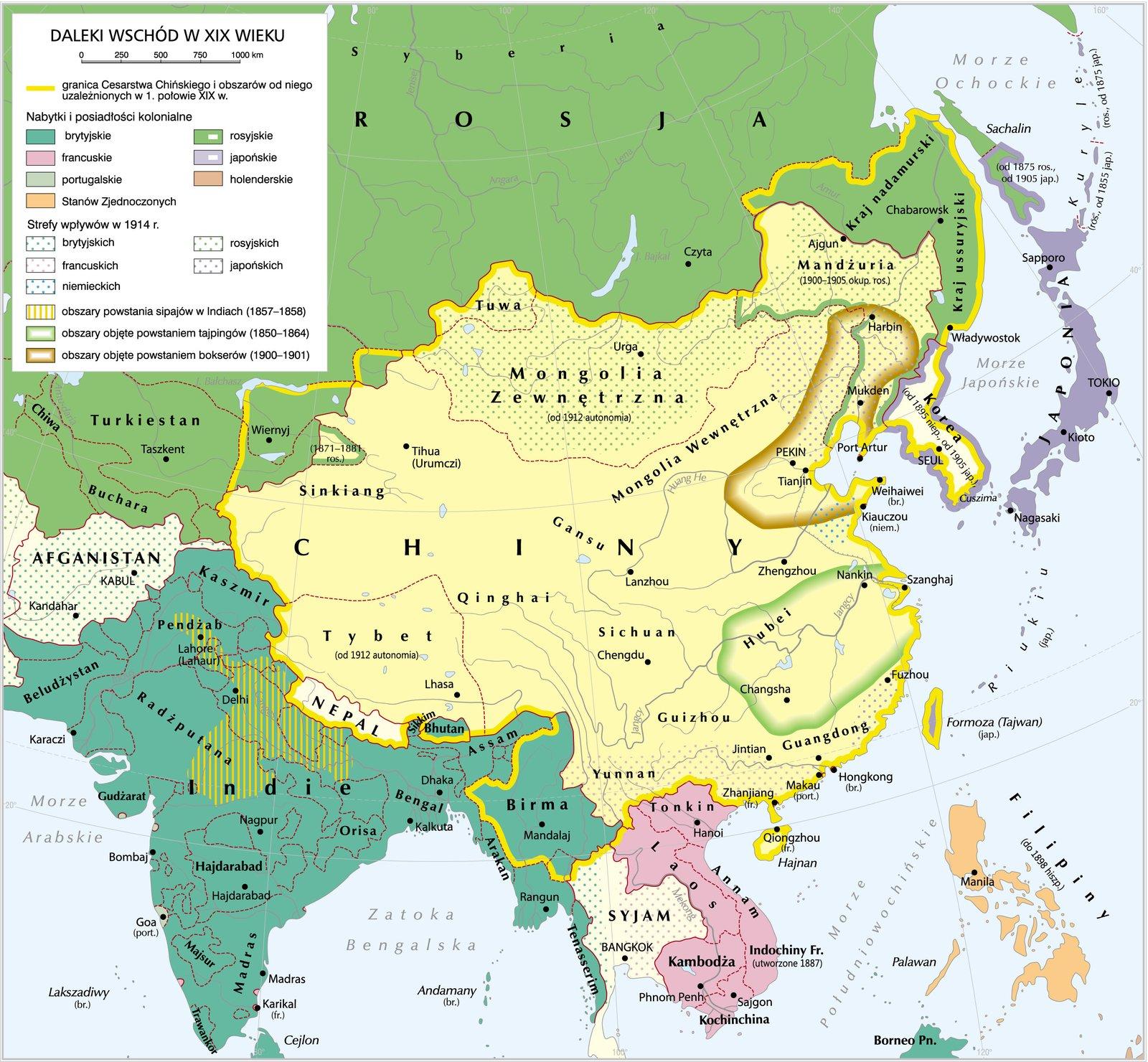 Daleki Wschód wXIX wieku Źródło: Daleki Wschód wXIX wieku, Krystian Chariza izespół.