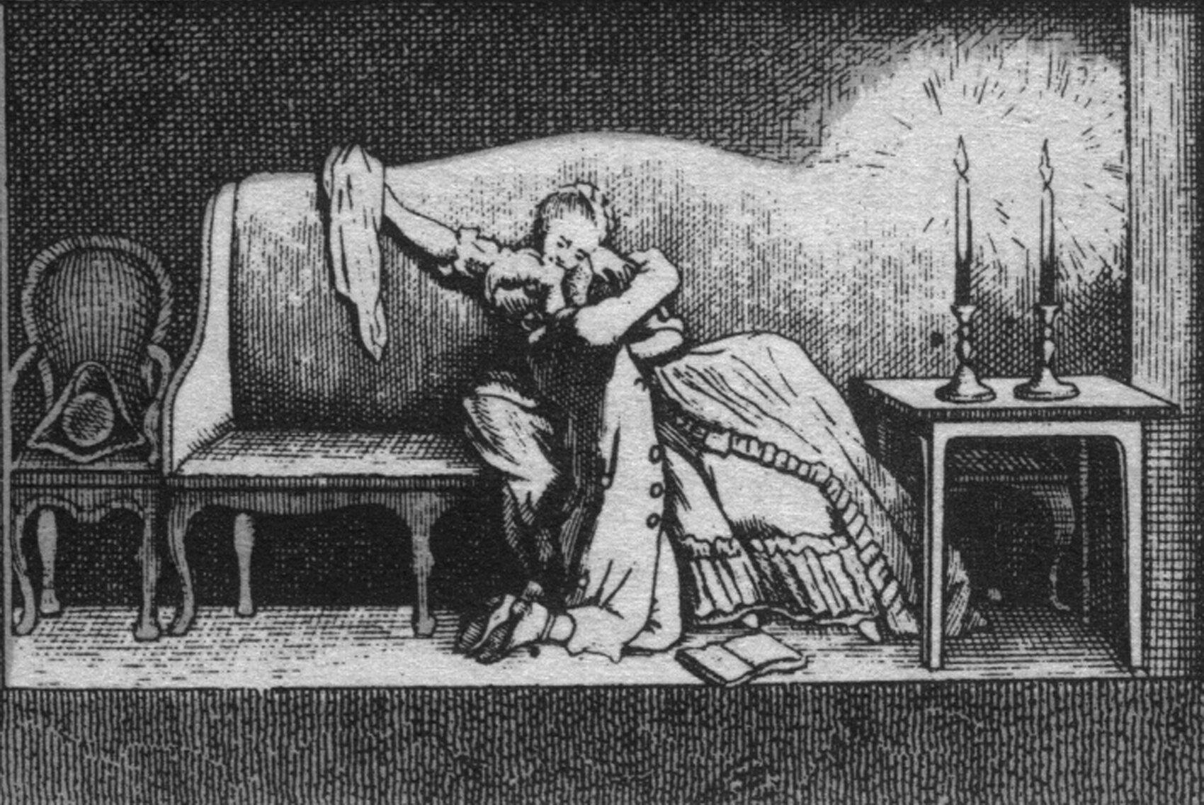 Daniel Chodowiecki, ilustracja do Cierpień młodego Wertera, II poł. XVIII wieku Daniel Chodowiecki, ilustracja do Cierpień młodego Wertera, II poł. XVIII wieku