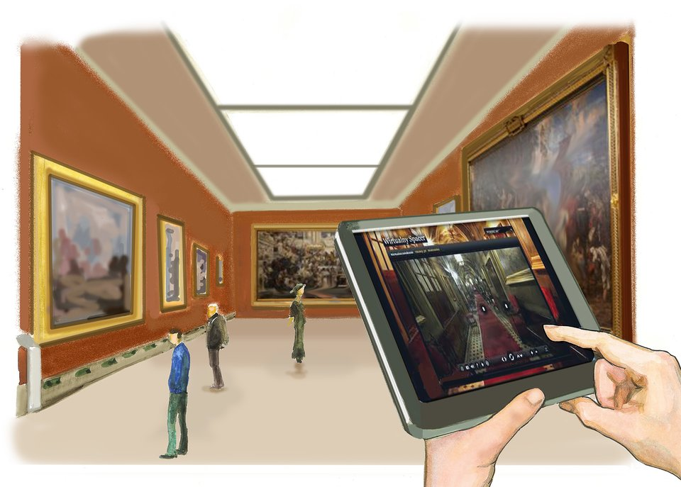 Slajd 4 galerii ilustracji przedstawiających zastosowanie urządzeń komputerowych
