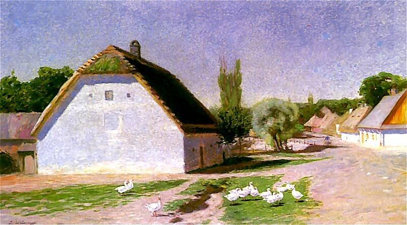 Lato wBronowicach Źródło: Ludwik de Laveaux, Lato wBronowicach, 1892–1893, olej na płótnie, Muzeum Historyczne wKrakowie, domena publiczna.