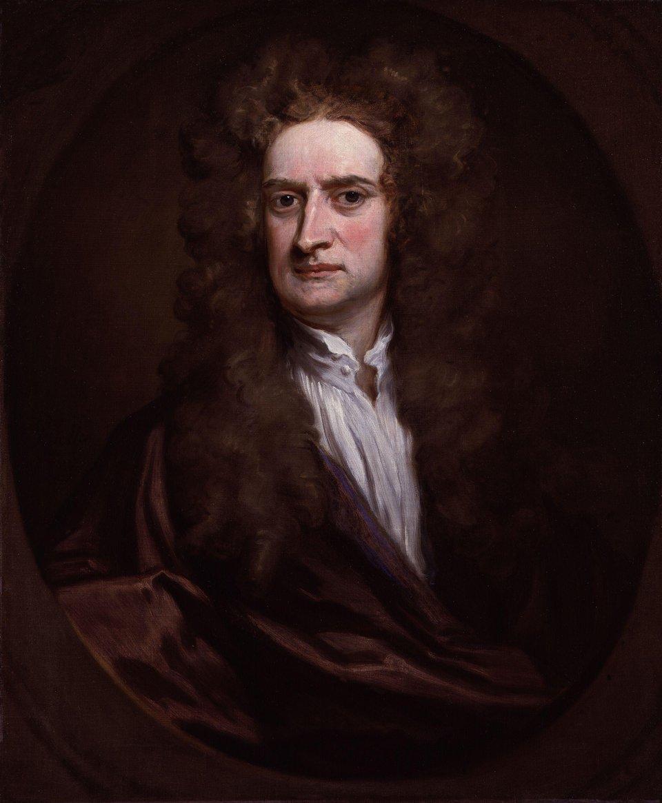 Portret Sir Isaaca Newtona Portret Sir Isaaca Newtona Źródło: Godfrey Kneller, 1702, olej na płótnie, National Portrait Gallery wLondynie, domena publiczna.