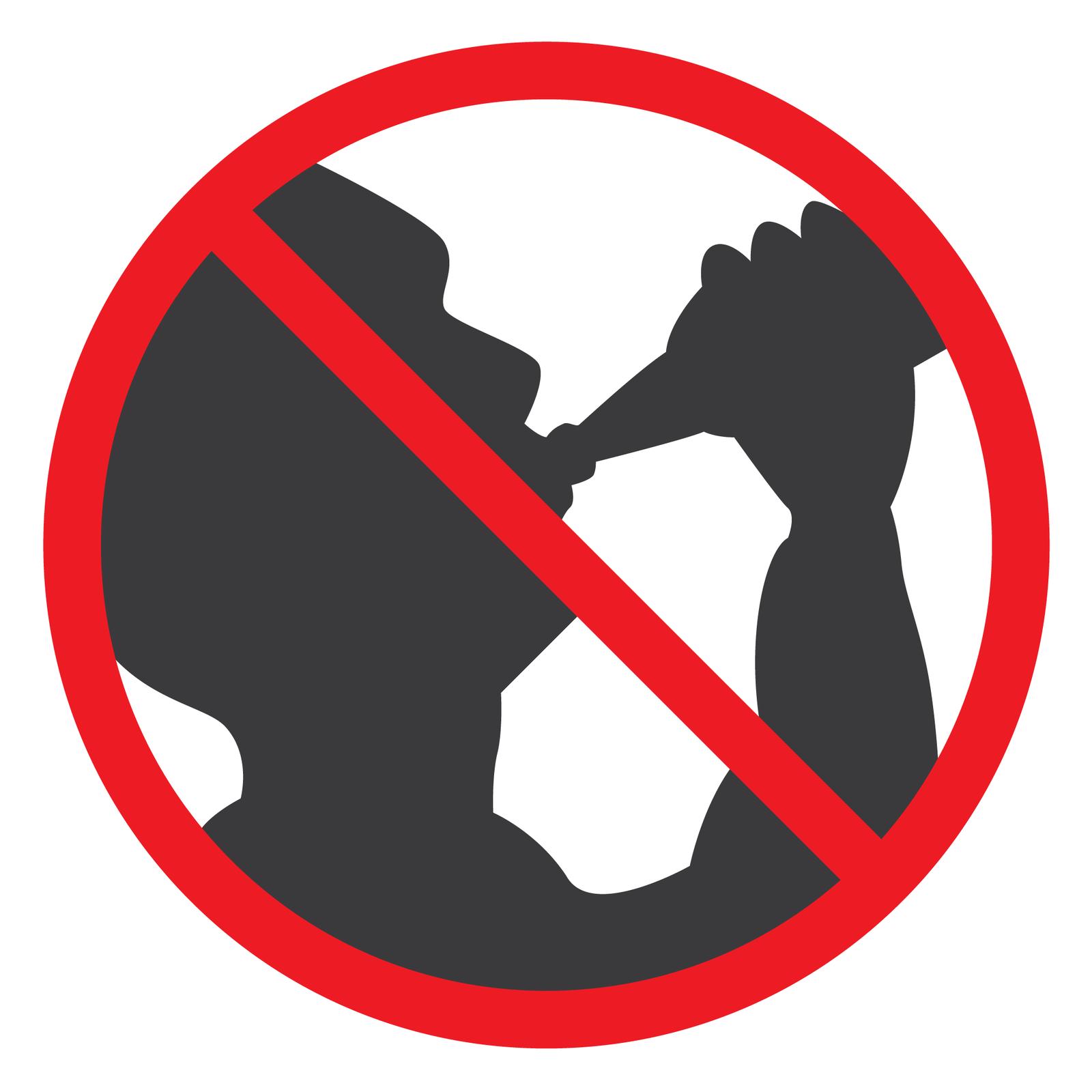 Drugi piktogram przedstawia czarny zarys osoby pijącej zbutelki. Osoby skierowana wprawo. Ręka wzniesiona wgórę przytrzymuje butelkę skierowaną do ust.