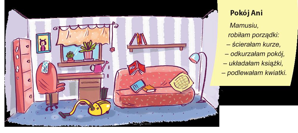 Ręcznie pisana kartka Ani + jej pokój
