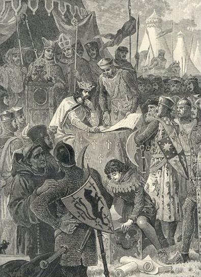Król Jan podpisuje Wielką Kartę Swobód Król Jan podpisuje Wielką Kartę Swobód Źródło: autor nieznany, [online], dostępny winternecie: wikimedia.