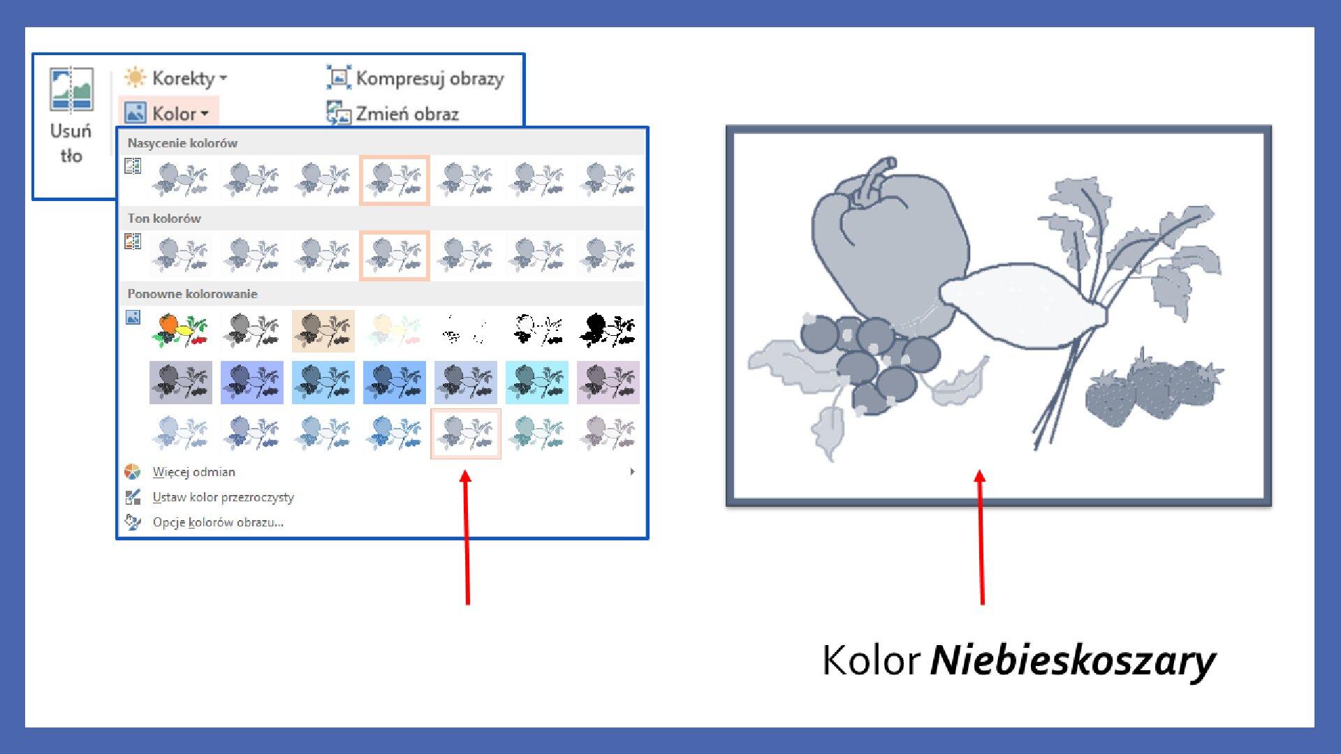 Slajd 11 galerii zrzutów slajdów: Modyfikacja obiektów wprogramie MS PowerPoint