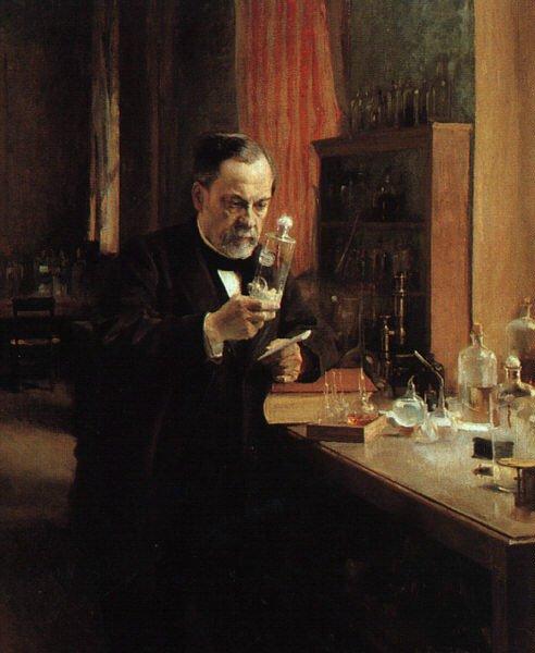 Louis Pasteur Źródło: Albert Edelfelt, Louis Pasteur, 1885, olej na płótnie, Musée d'Orsay, domena publiczna.