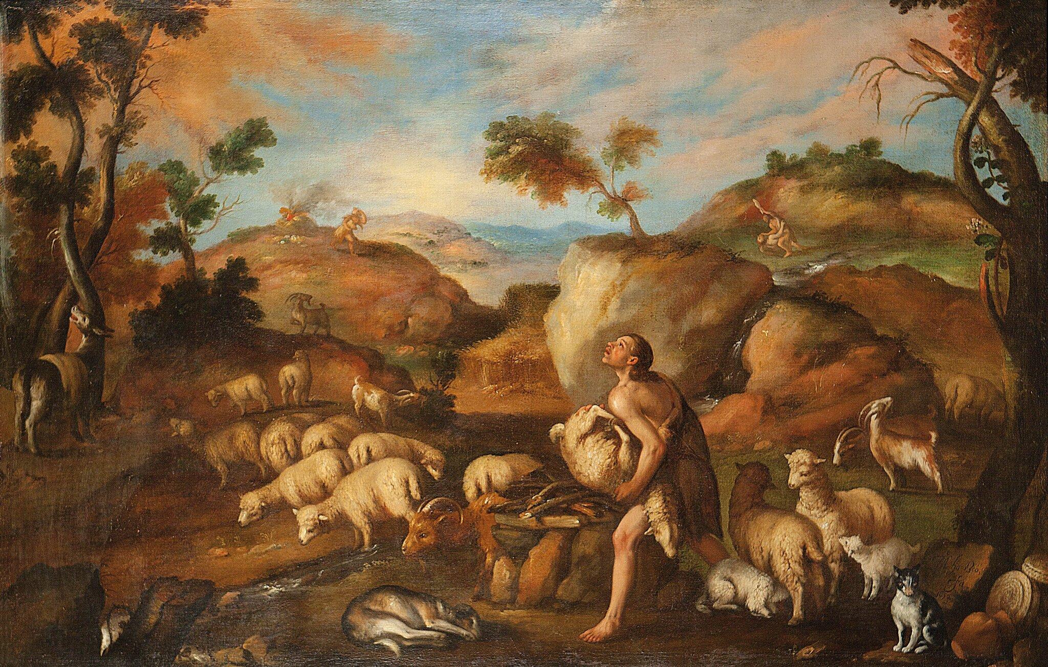 Kain iAbel Źródło: Mateo Orozco, Kain iAbel, 1652, domena publiczna.