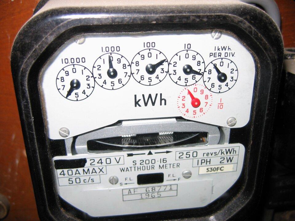 Zdjęcie fragmentu licznika energii elektrycznej