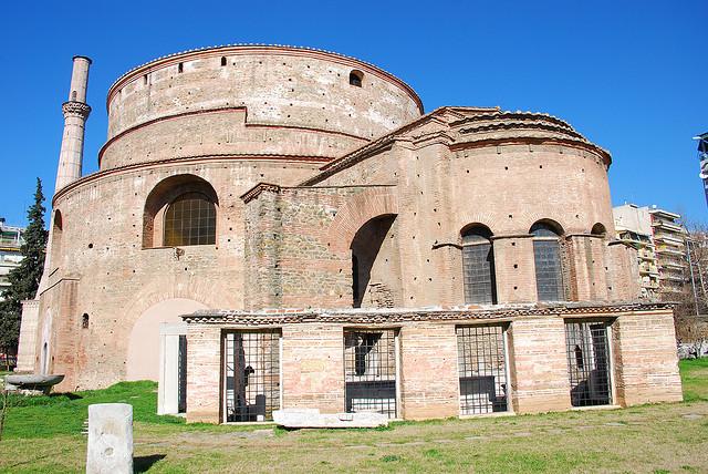 Mauzoleum cesarza Galeriusza (IV w.), zamienione na kościół, później meczet, wSalonikach Źródło: George M. Groutas, Mauzoleum cesarza Galeriusza (IV w.), zamienione na kościół, później meczet, wSalonikach, licencja: CC BY 2.0.