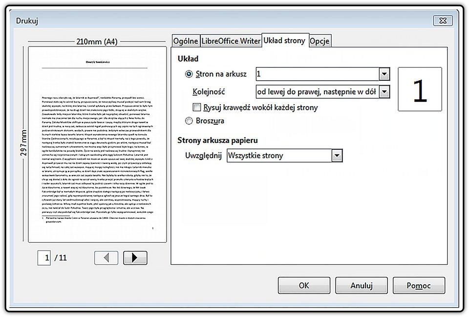 Slajd 3 galerii: Drukowanie wybranych stron wprogramie LibreOffice Writer