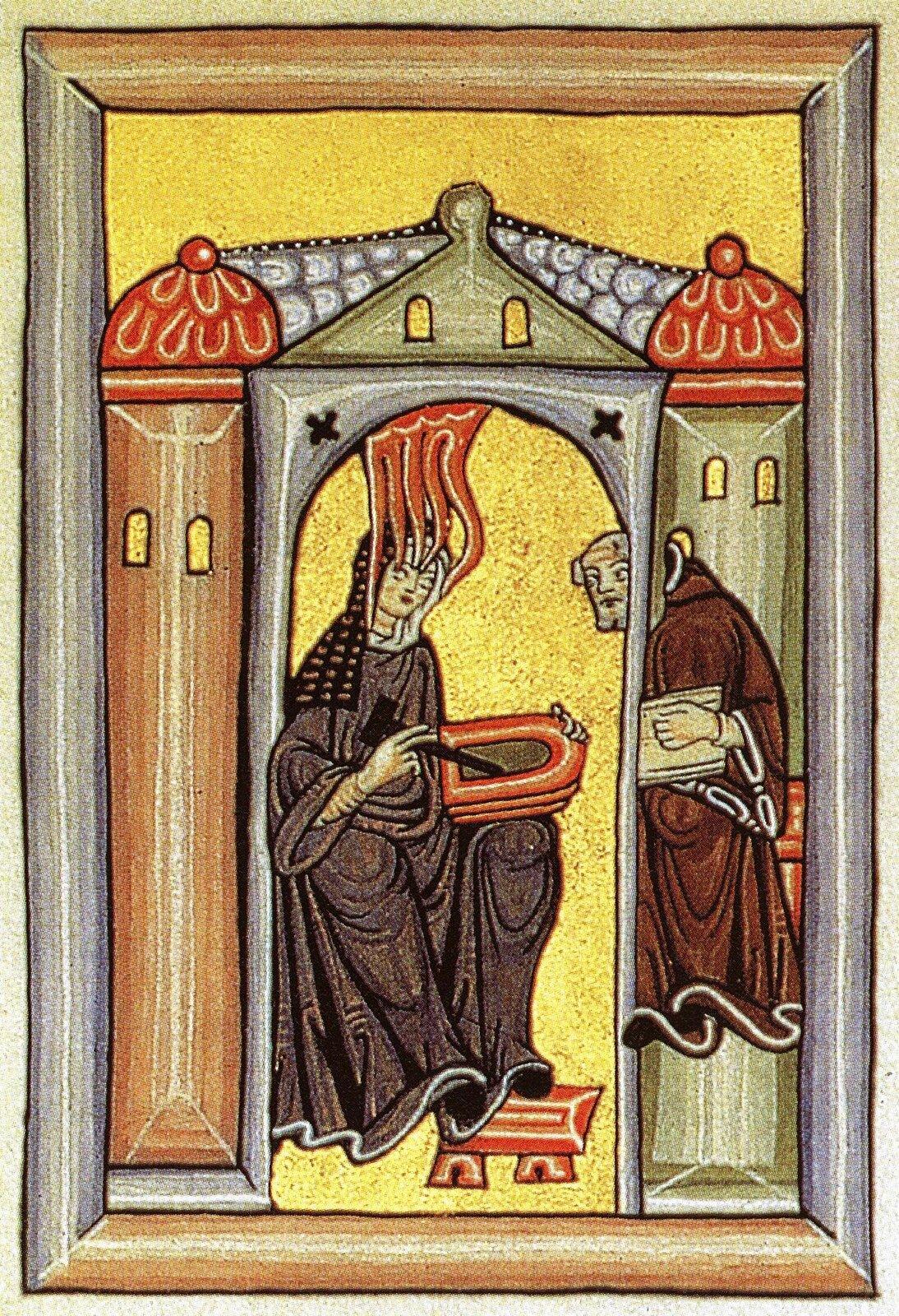 Mniszka niemiecka, Hildegarda zBingen Źródło: Mniszka niemiecka, Hildegarda zBingen , domena publiczna.