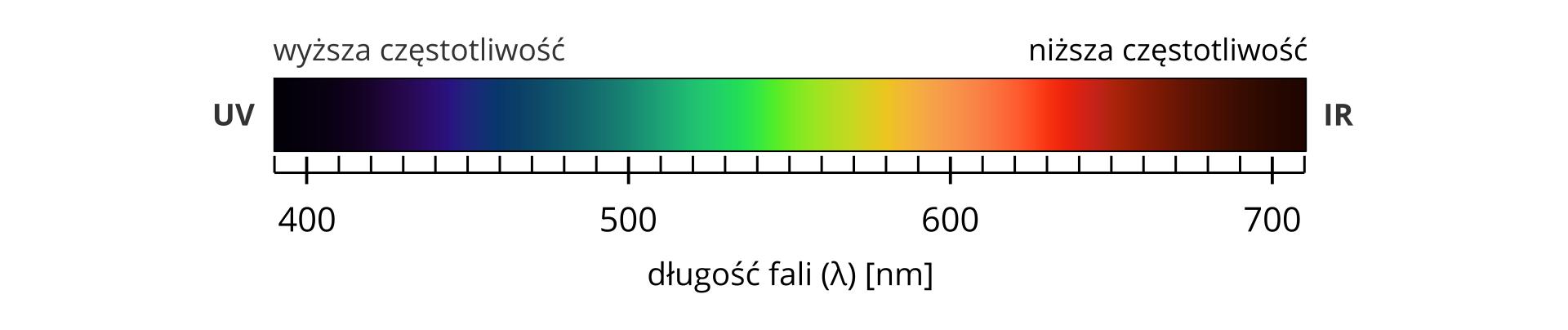 Spektrum światła widzialnego