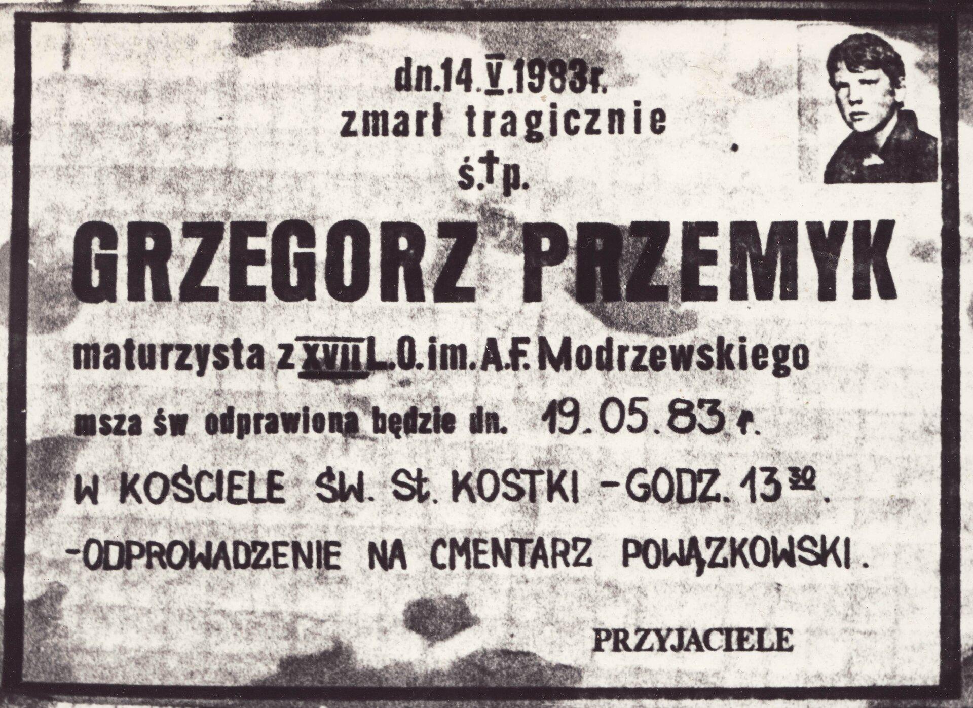 klepsydra Grzegorza Przemyka