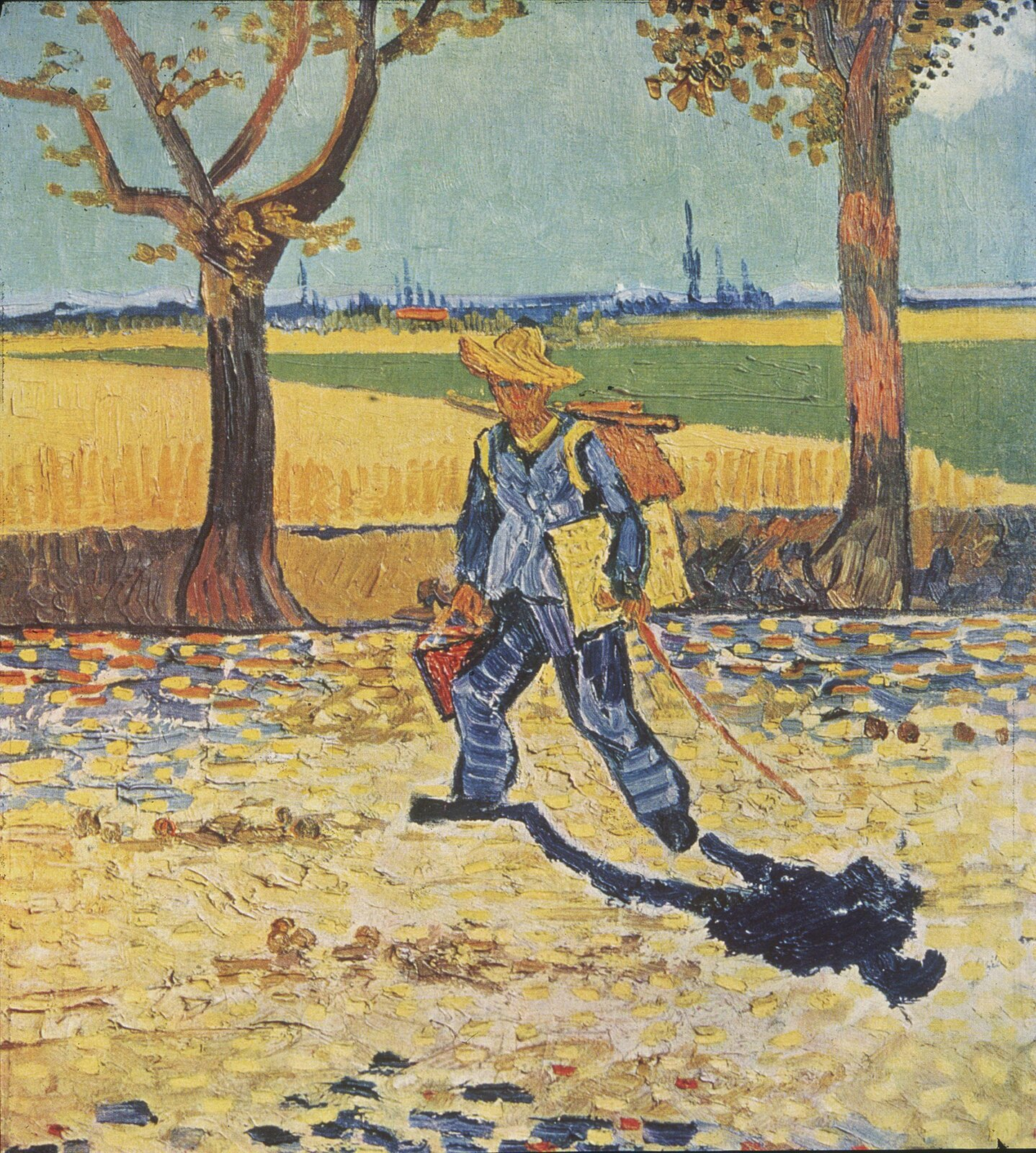 Malarz wdrodze do pracy Źródło: Vincent van Gogh, Malarz wdrodze do pracy, 1888, olej na płótnie, domena publiczna.