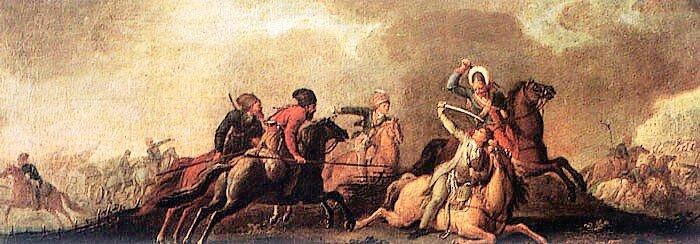 Bitwa pod Maciejowicami Źródło: Bitwa pod Maciejowicami, Zamek Królewski na Wawelu, licencja: CC 0.
