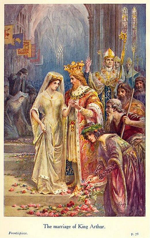 Małżeństwo króla Artura Źródło: Speed Lancelot, Małżeństwo króla Artura, 1912, domena publiczna.