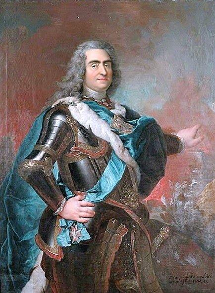 August II Mocny Źródło: Louis de Silvestre, August II Mocny, XVIII w., Nationalmuseum, domena publiczna.