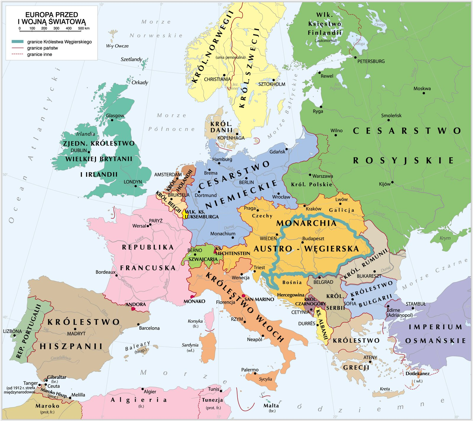 Europa przed Iwojną światową Europa przed Iwojną światową Źródło: Krystian Chariza izespół, licencja: CC BY 3.0.