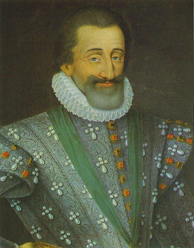 Henryk IV Bourbon, król Francji Henryk IV Bourbon (ur. 1553, król 1589, zm.1610) Źródło: Henryk IV Bourbon, król Francji, domena publiczna.
