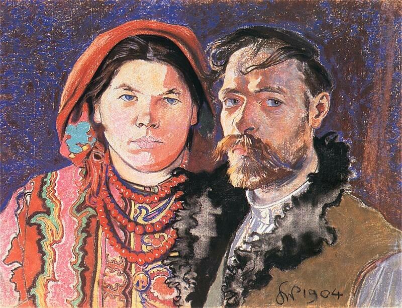 Portret artysty zżoną Źródło: Stanisław Wyspiański, Portret artysty zżoną, 1904, pastel, Muzeum Narodowe, domena publiczna.