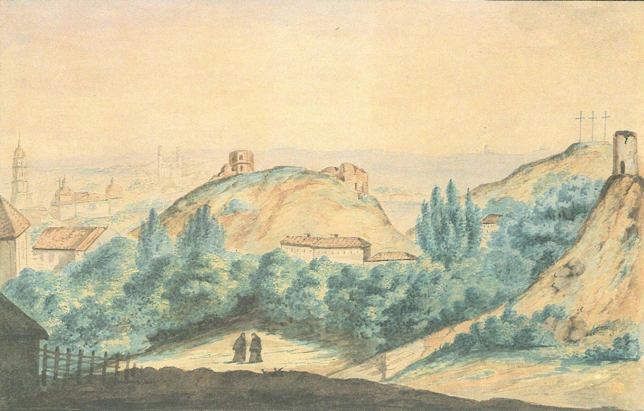 Wilno Wilno Źródło: M. Januševič, 1846, domena publiczna.