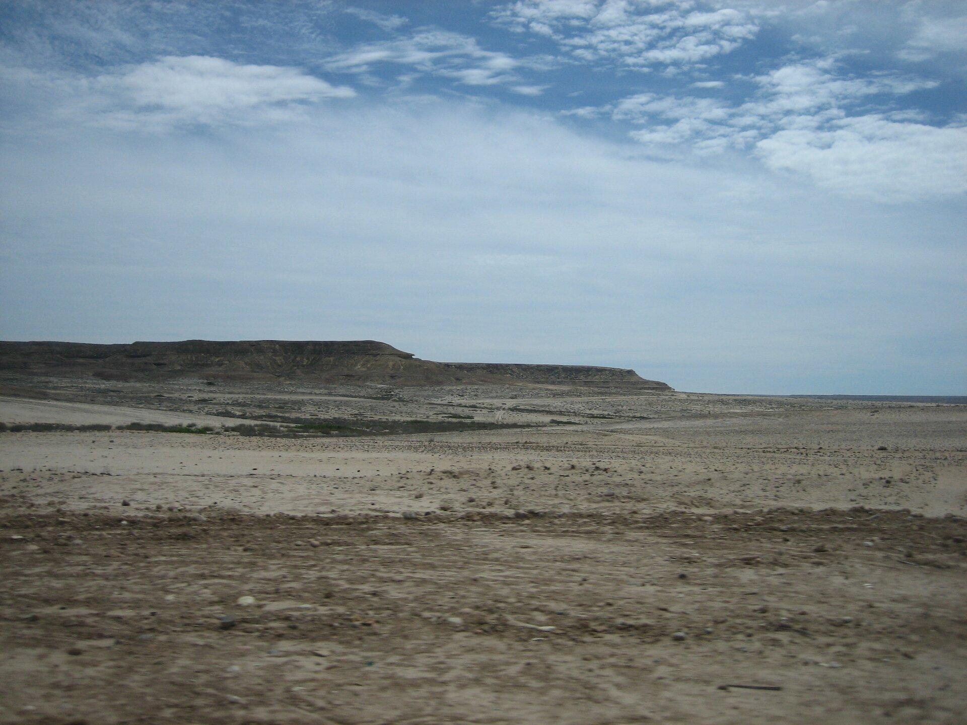 Nadmorska Pustynia Namib powstała wwyniku działania chłodnego Prądu Benguelskiego, który ogranicza opady