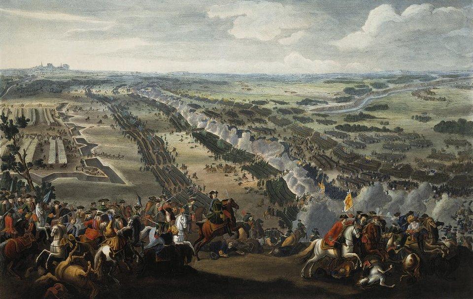 Bitwa pod Połtawą Źródło: Pierre-Denis Martin, Bitwa pod Połtawą, 1726, olej na płótnie, Catherine Palace, domena publiczna.